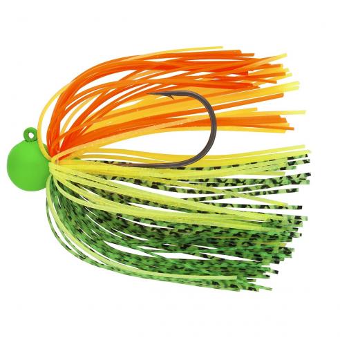 Daiwa Tournament Rubber Jig SAQ SAS RH Green / Yellow / Orange