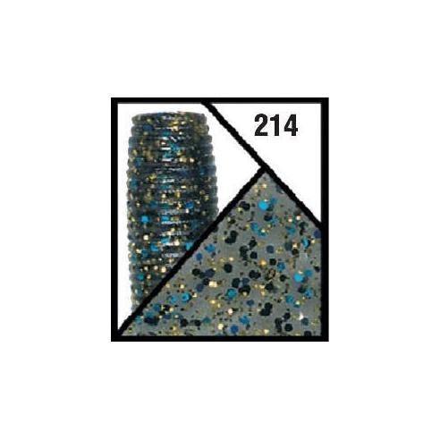 "Gary Yamamoto Baby Lizard 4,5"" - 021 Black / Large Blue Flake"