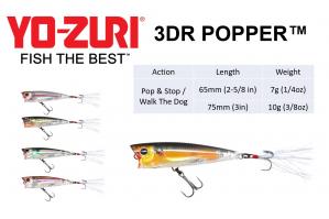Yo- Zuri 3DR Popper F65