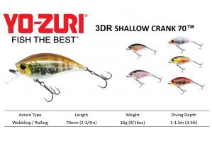 Yo- Zuri 3DR Shallow Crank...